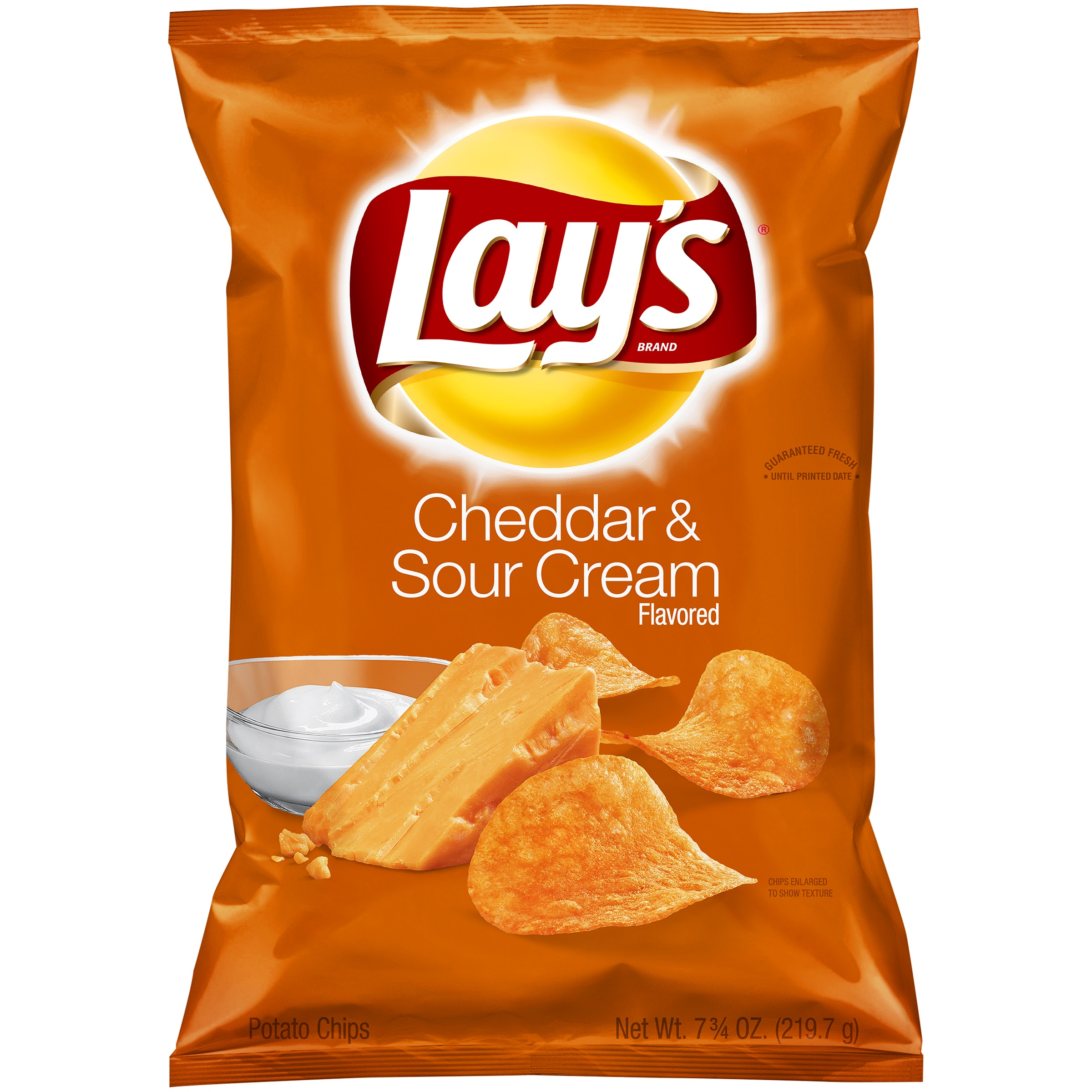 Lay's Potato Chips, Cheddar & Sour Cream, 7.75 Oz by Frito-Lay, Inc.