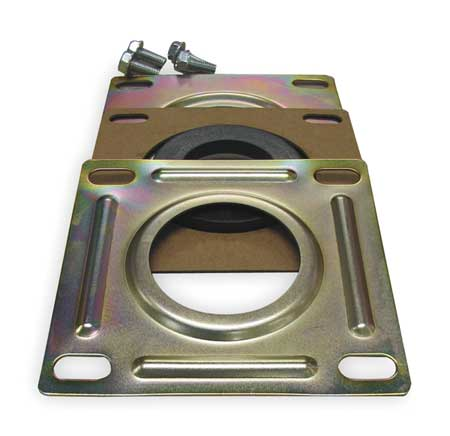 LUBE DEVICES 5104 Suction Flange, hyd, Steel, For 1.5 In Pipe