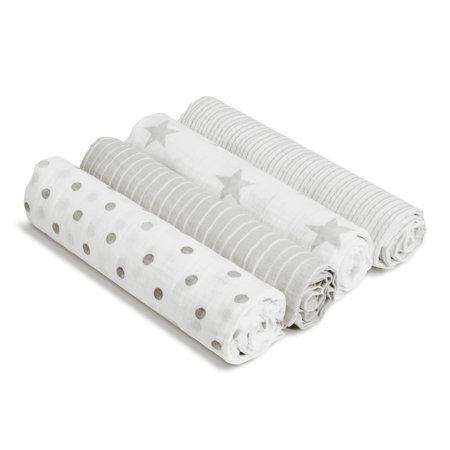 aden by aden + anais swaddle 4 pack, dusty