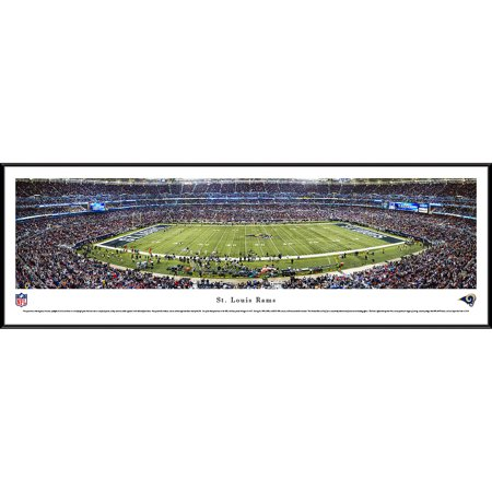 St. Louis Rams 50 Yard Line at Edward Jones Dome Blakeway Panoramas NFL Print with Standard Frame by