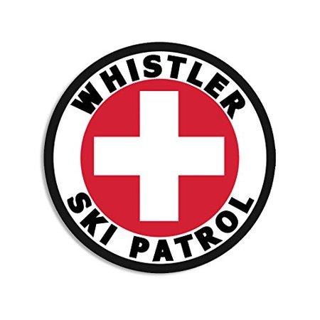Round WHISTLER SKI PATROL Sticker (bc british columbia snow)
