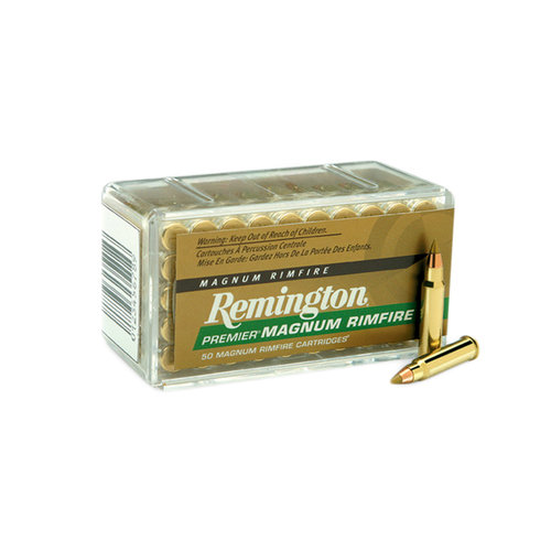 Remington Premier Magnum Rimfire Cartridges 50 pk