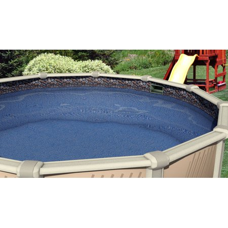 27 Foot Round X 48 52 Inch High Overlap Waterfall Above Ground Swimming Pool Liner 25 Gauge