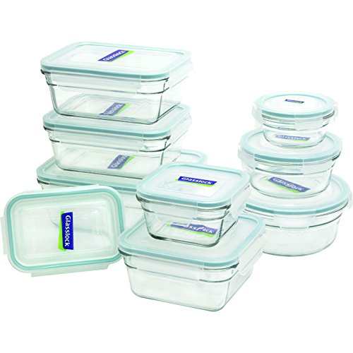 Glasslock 18-Piece Assorted Oven Safe Container Set NEW FREE SHIPPING