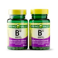 Spring Valley Vitamin B12 Timed Release Tablets, 1000 mcg, 150 Count, 2 Pack