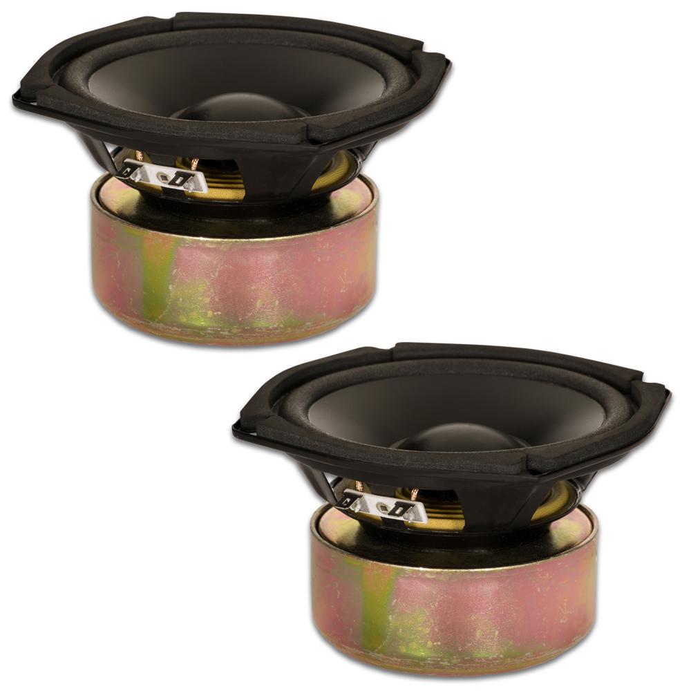 "2 Goldwood Sound GW-205/4S Shielded 5.25"" Woofers 130 Watt each 4ohm Replacement Speakers"