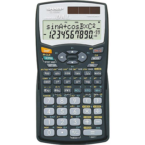 Sharp Scientific Calculator, EL-506WBBK