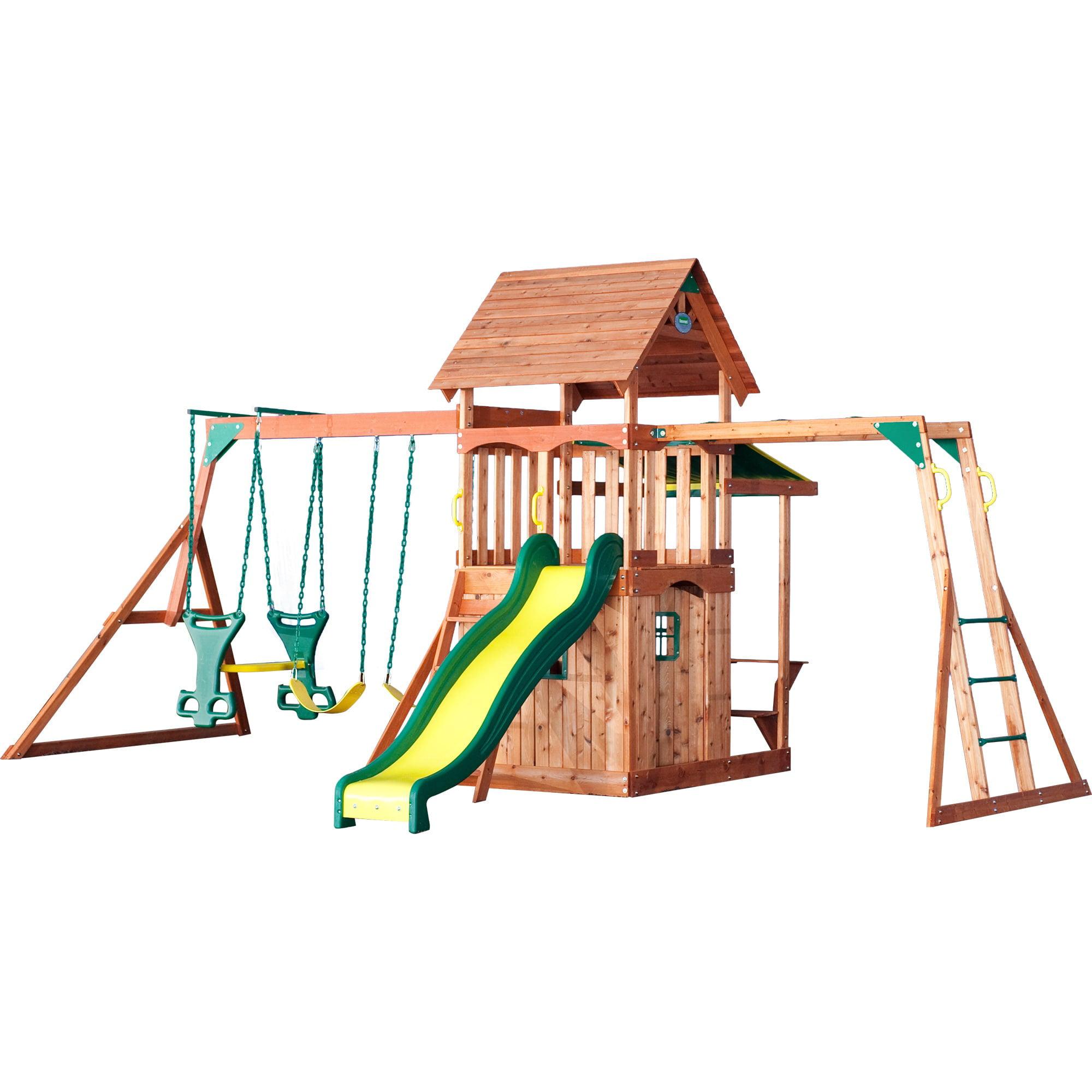 Backyard Discovery Saratoga All Cedar Swingset Walmart Com