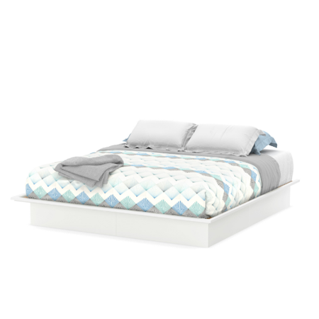south shore basics full platform bed with molding 54 multiple finishes walmartcom