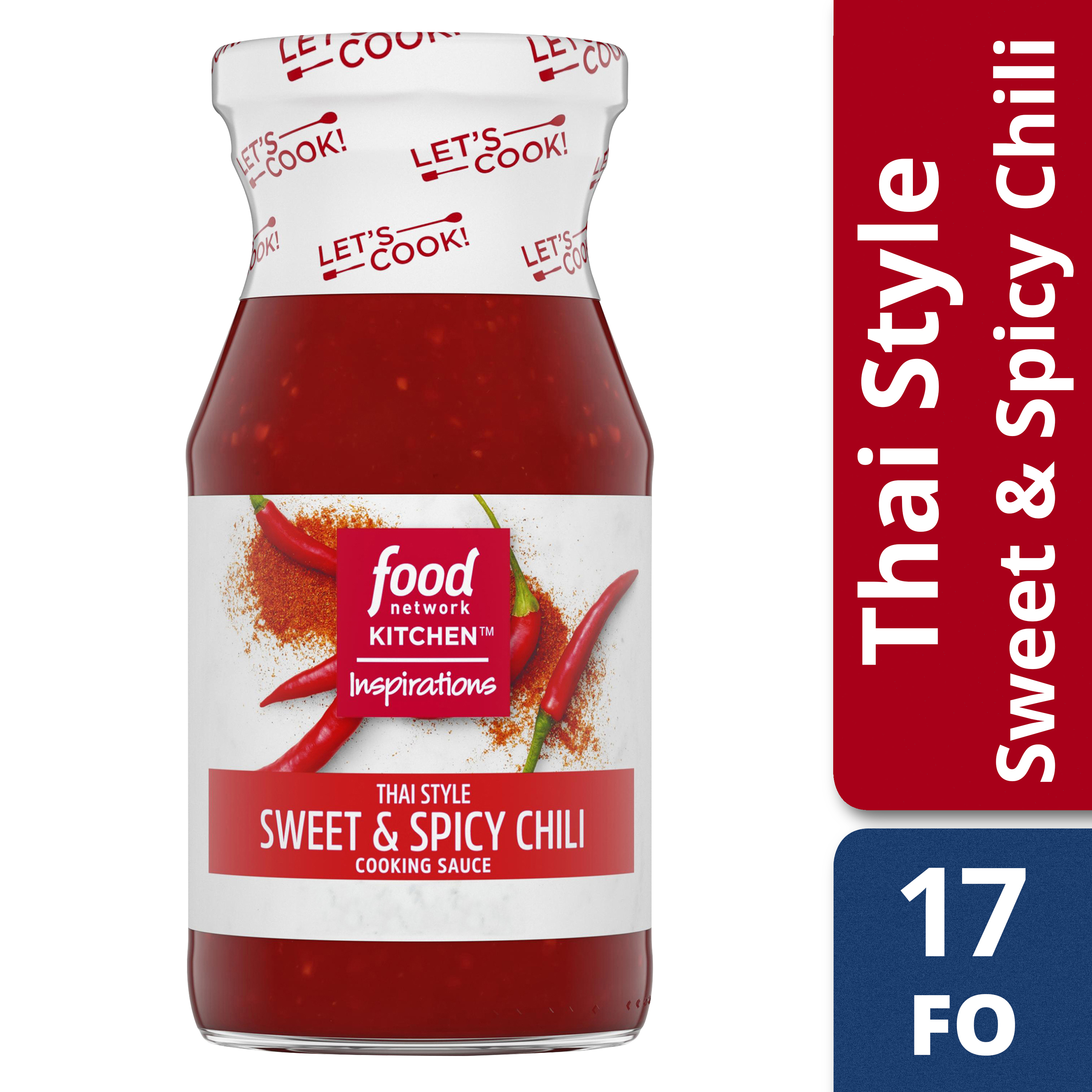 (2 Pack) Food Network Kitchen Inspirations Thai Style Sweet & Spicy Chili Cooking Sauce, 15 oz Bottle