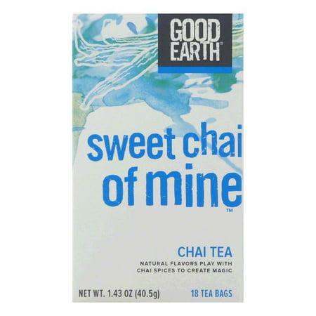 - Good Earth Sweet Chai of Mine Chai Tea 18 ct  (Pack of 6)