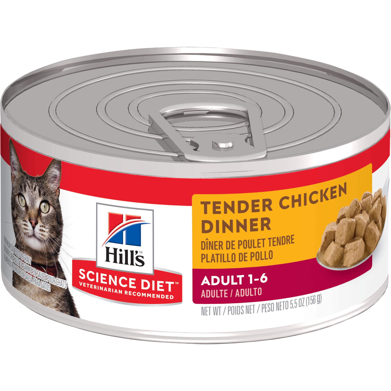 Hill's Science Diet (Spend $20, Get $5) Adult Tender Chicken Dinner Wet Cat Food, 5.5 oz, 24-pack (See description for rebate details)