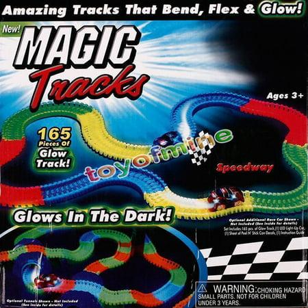 MAGIC TRACKS Glow In The Dark LED Light Up Race Car Bend Flex Wonderful Gift For Kids Children