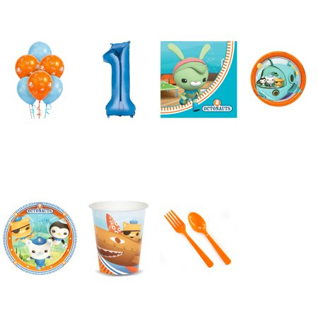 Octonauts Party Supplies Party Pack For 16 With Blue #5 Balloon](Octonauts Birthday Party)