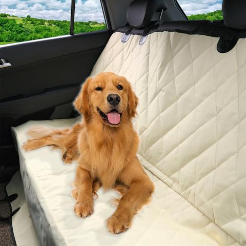 Pet Magasin Beige Pet Seat Cover for Car Seats - Hammock Style Cover Protects