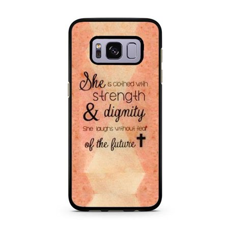 low priced 0ac89 c1f9d Bible Quote Galaxy S8 Plus Case