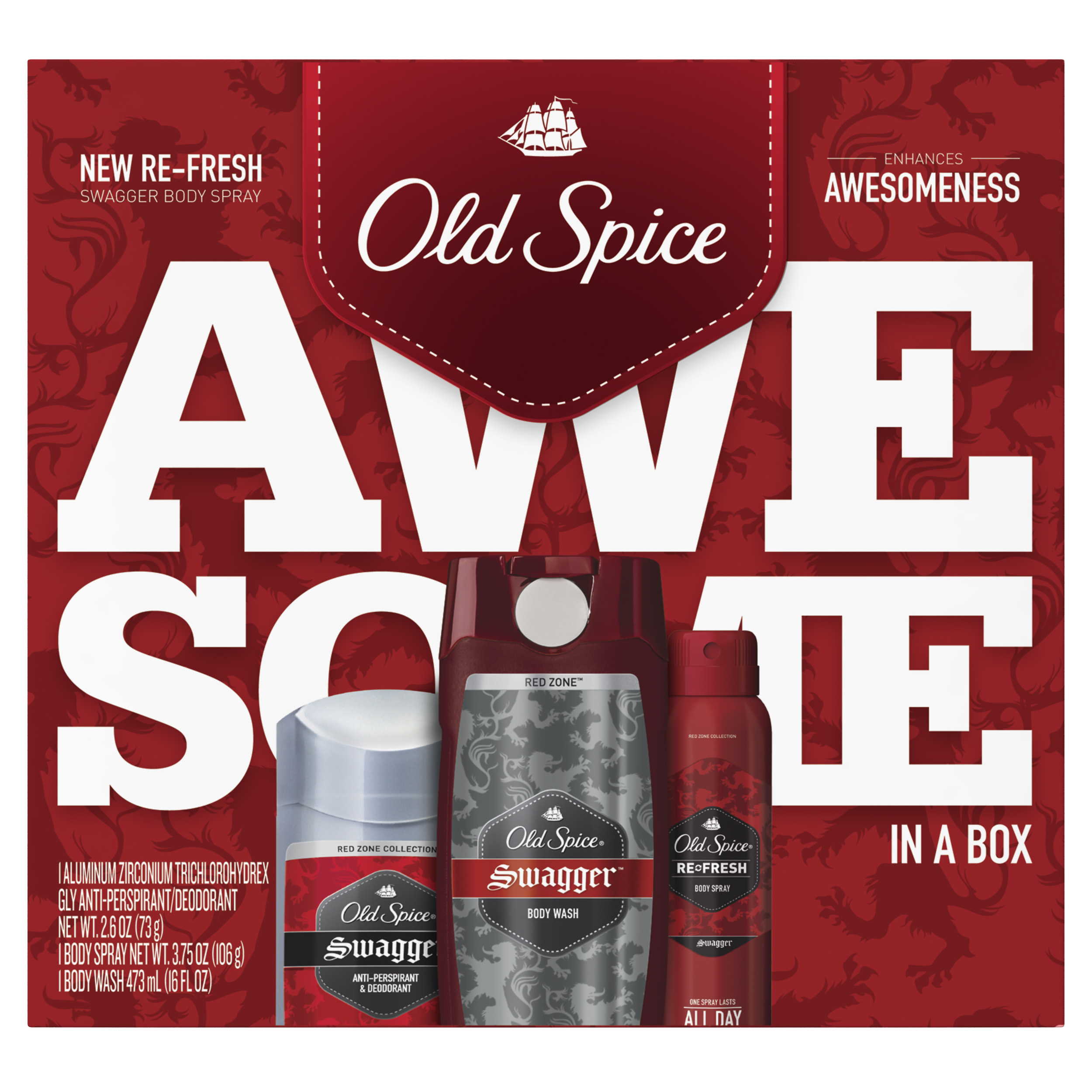 Old Spice Red Zone Swagger Regimen Pack, 3 count