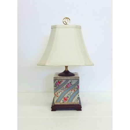 Glove Box Lamp - Amita Trading Inc. Floral Ettiene Porcelain Box Table Lamp