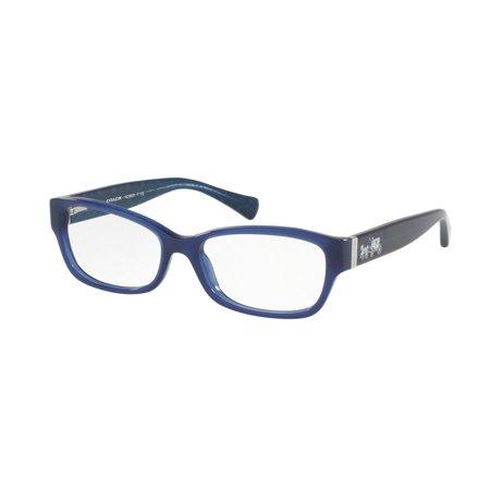 Coach 0HC6078 Optical Full Rim Rectangle Womens Eyeglasses - Size 52 (Navy / Transparent) ()
