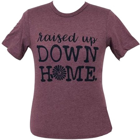 Girlie Girl Originals Lulu Mac Collection Down Home Short Sleeve T-Shirt-Heather Maroon-large](Girlie Girl Wholesale)