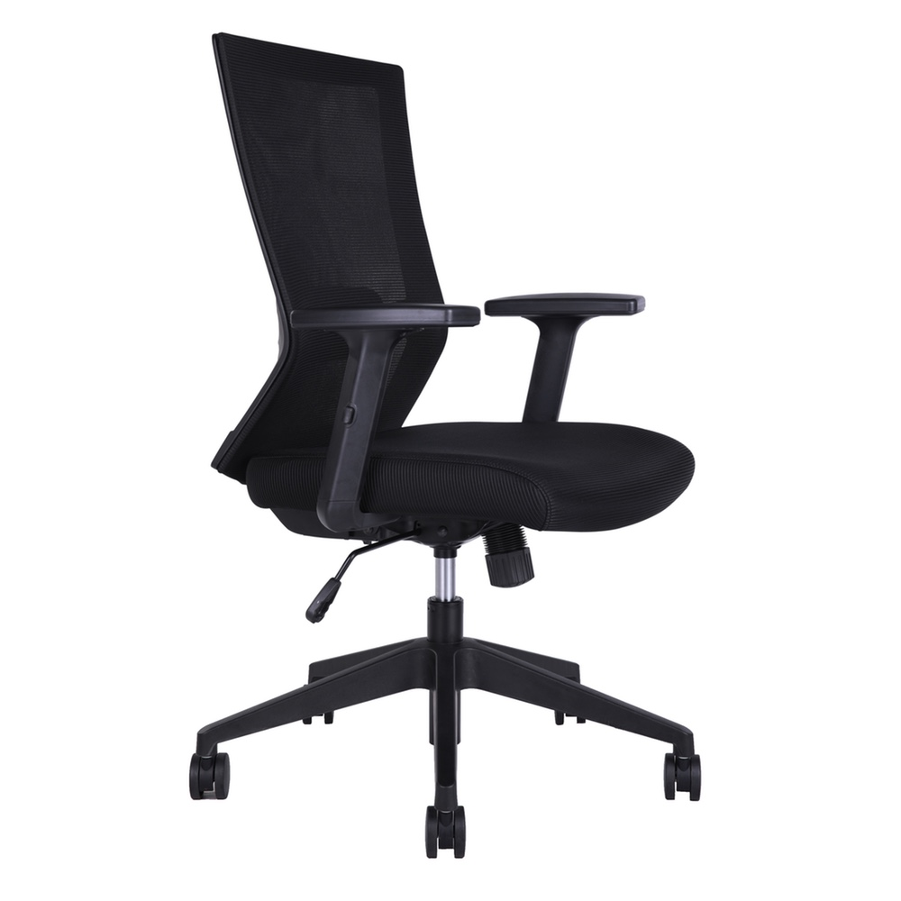 Nelson Ns81bk Mid Back Height Adjule Mesh Office Chair