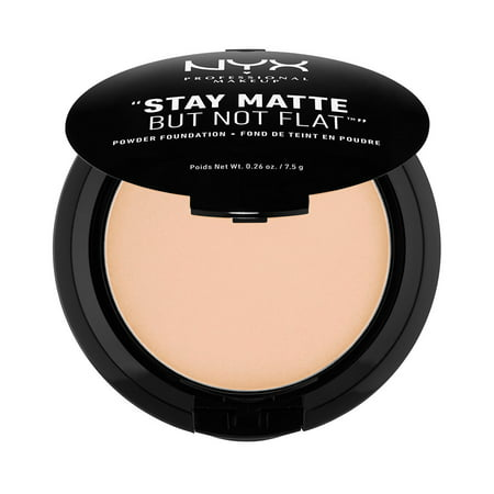 - NYX Professional Makeup Stay Matte But Not Flat Powder Foundation, Natural