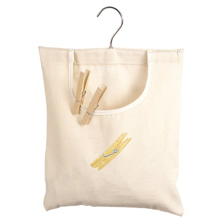 Whitmor 6462-789 Natural Canvas Clothespin Bag