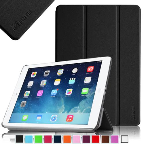 Fintie iPad Air SmartShell Case - Ultra Slim Lightweight Stand Smart Cover with Auto Wake / Sleep, Black