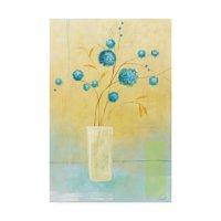 Trademark Fine Art 'Small Floral Vase 2' Canvas Art by Pablo Esteban