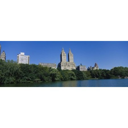 Buildings On The Bank Of A Lake Manhattan New York City New York State Usa Canvas Art   Panoramic Images  36 X 13