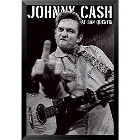buyartforless FRAMED Johnny Cash (Middle Finger) At San Quentin ...