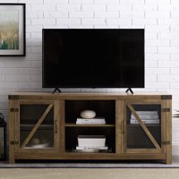 Deals on Manor Park Farmhouse TV Stand for TVs up to 65-inch, Reclaimed Barnwood