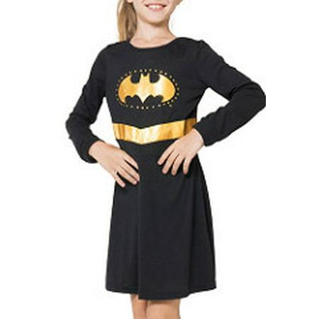 DC Comics Girls 'Batman Batgirl Superhero' Costume Nightgown Pajama - Batman Girl Villians