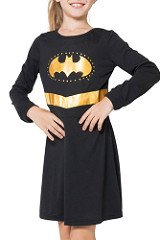 DC Comics Girls 'Batman Batgirl Superhero' Costume Nightgown Pajama