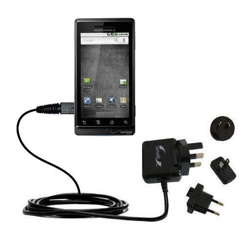 International AC Home Wall Charger suitable for the Motorola Droid Shadow