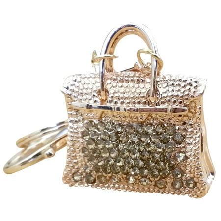 Am Landen Elegant Rhinestone Bling Key Chains Series Gold Birkin