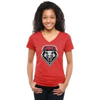 New Mexico Lobos Womens Classic Primary Tri-Blend V-Neck T-Shirt - Cherry