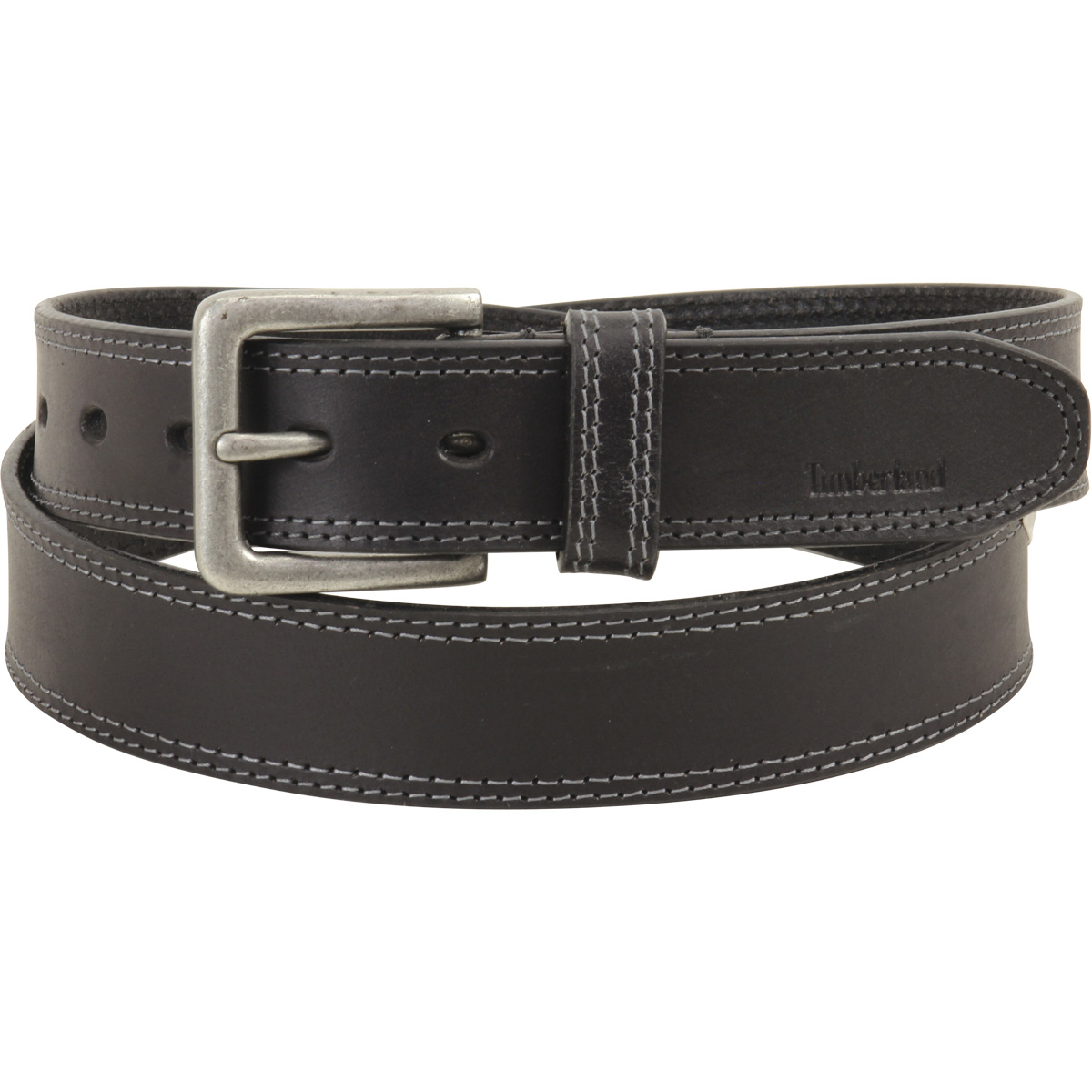 Timberland Men's Black Genuine Boot Leather Belt by Timberland