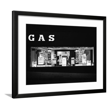 East Midlands Gas Board Shop Window Display, Commercial Street, Sheffield, South Yorkshire, 1961 Framed Print Wall Art By Michael