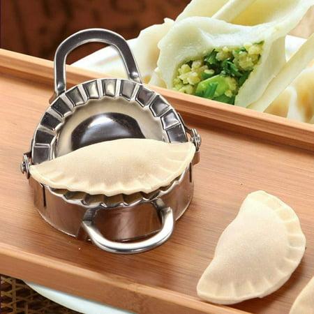 Dumpling Press, Small Stainless Steel Pot Sticker Mold Maker Wrapper, Dough Pie Pastry Cutter Kitchen Gadget