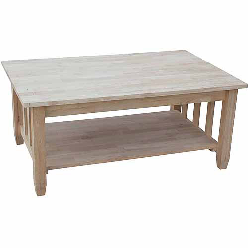 International Concepts Mission Tall Coffee Table with Lift Top, Ready To Finish