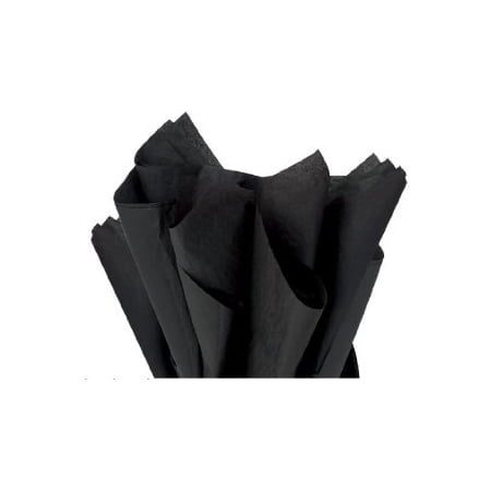 100 Sheets BLACK Gift Wrap Pom Pom Tissue Paper