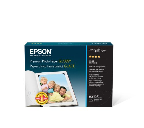 Epson Premium Photo Paper GLOSSY (4x6 Inches, 100 Sheets)...