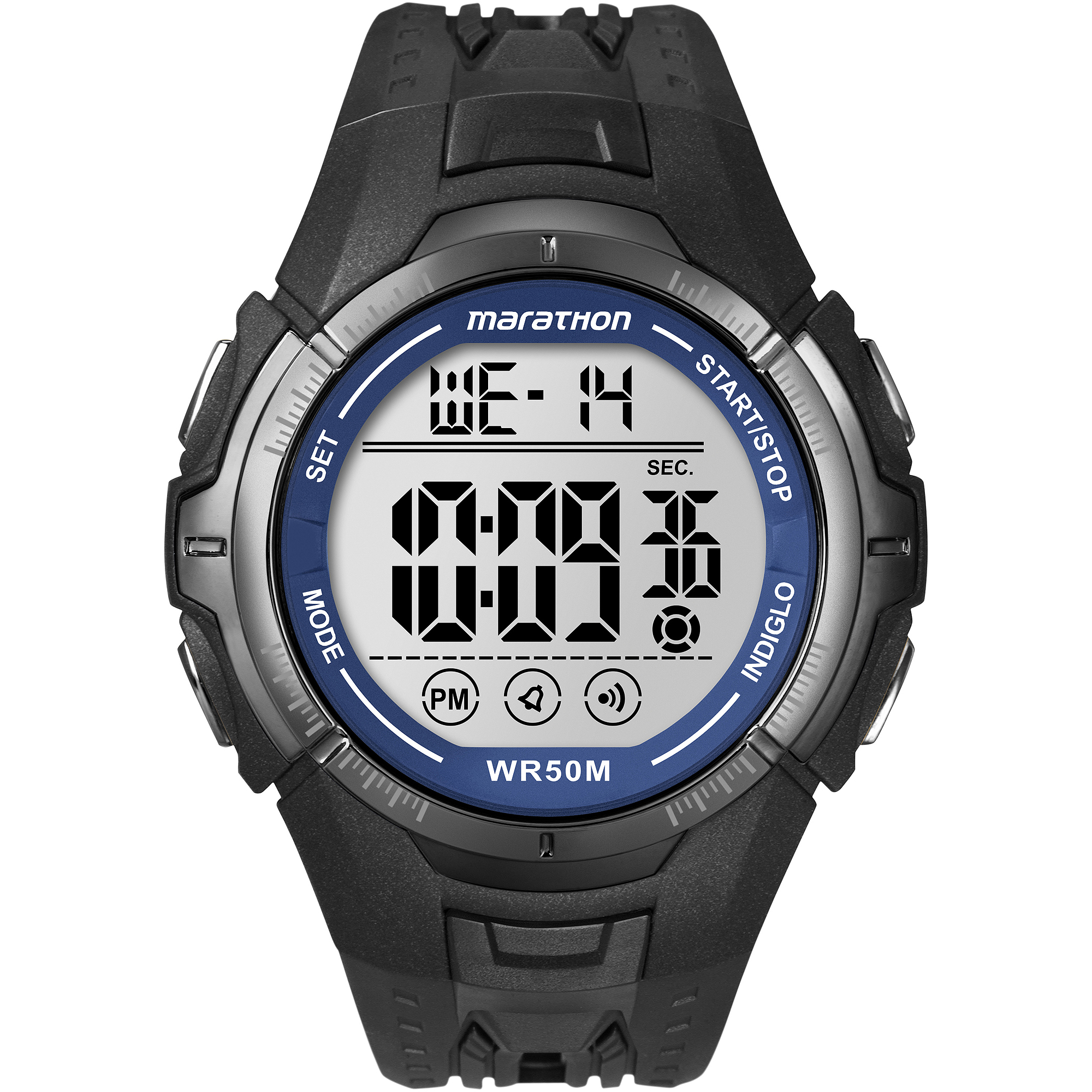 Marathon by Timex Men's Digital Full-Size Watch, Black Resin Strap