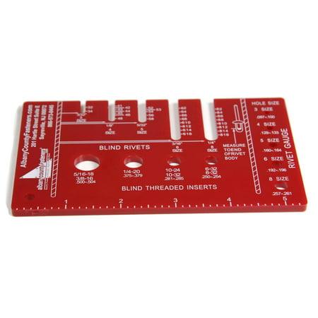Pocket Pop Rivet Size Identifying & Measuring Gauge