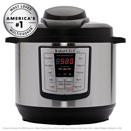 Instant Pot LUX60 V3 6 Qt 6-in-1 Multi-Use Programmable Pressure Cooker, Slow...