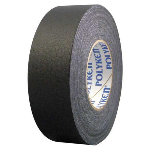 POLYKEN 510 Gaffers Tape, 11.5 mil, 1 In x 55 yd, Black