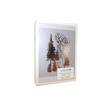 unicef holiday cards silver tree - Unicef Holiday Cards