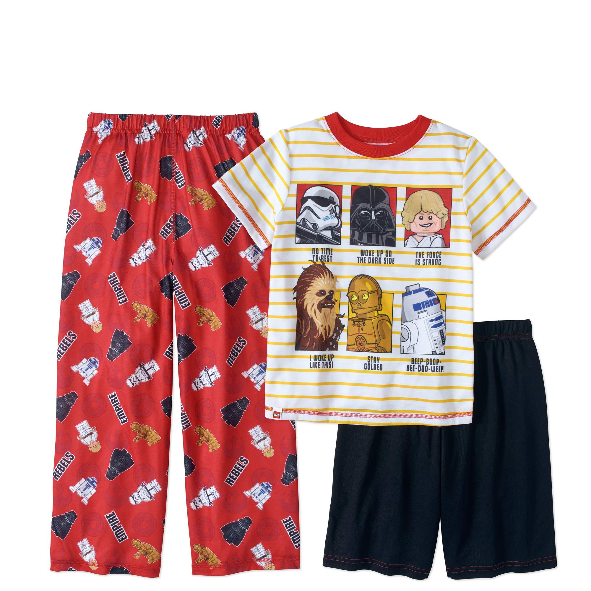 LEGO Star Wars Boys' Character 3 Piece Pajama Set
