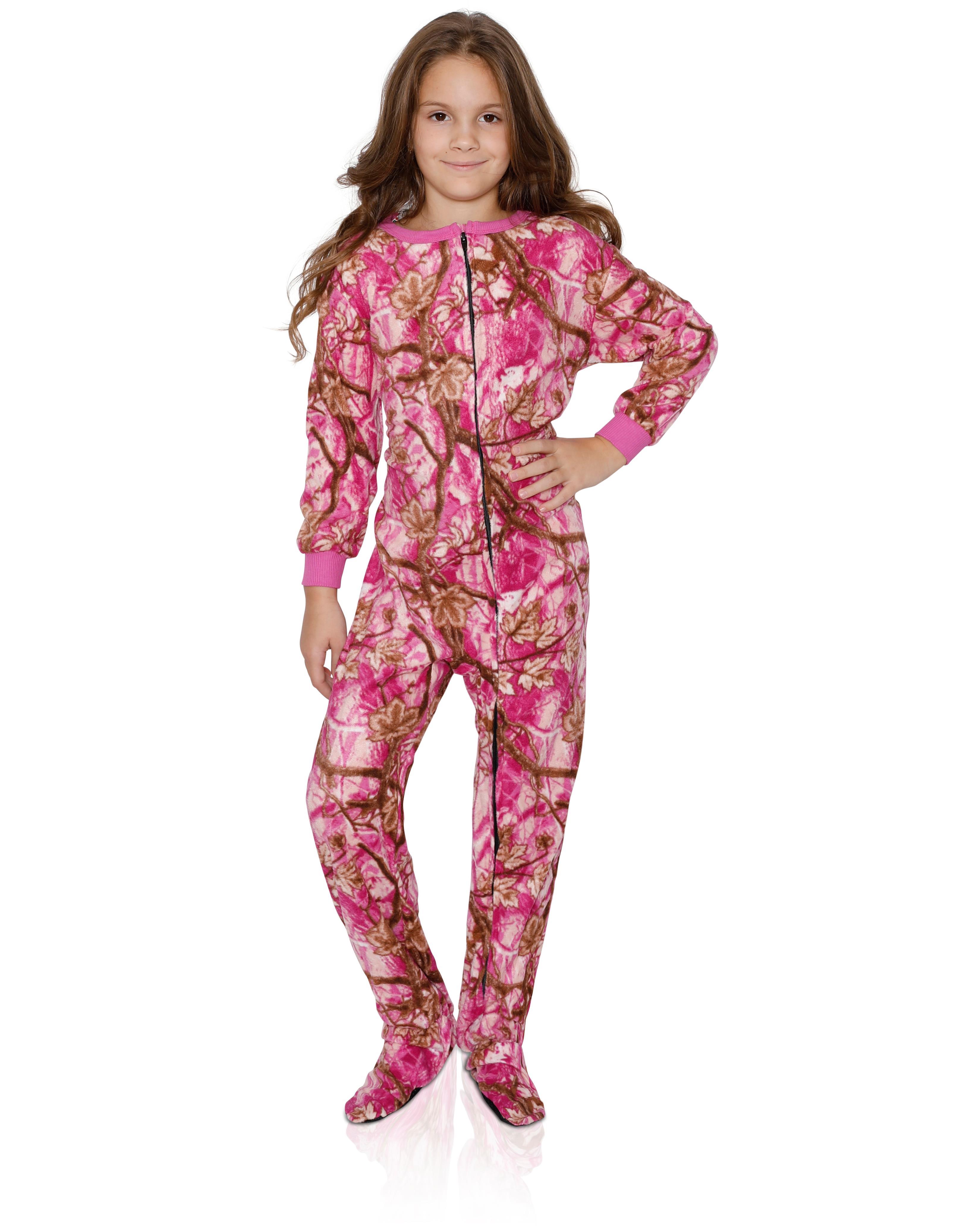 Emoji - FUN FOOTIES Camo Smiley Girls Footed Pajama Sleeper Onesie ... 08ae2148e